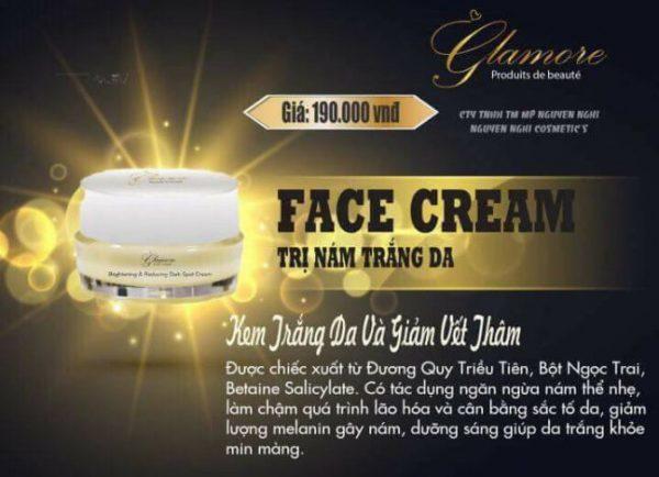 Kem Face Giảm Làm Mờ Nám Glamore 10gr giá rẻ