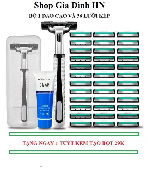 Bộ dao cạo râu Gillette 36 đầu tiện dụng - Giá Cả Hợp Lý - dùng được nhiều lần