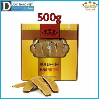 Hộp Nấm Linh chi đỏ Hoàng Gia Thượng Hạng thái lát 500g hộp thumbnail