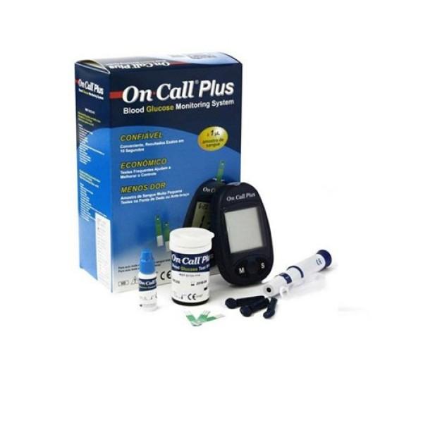 Nơi bán Máy đo đường huyết On Call Plus ()- Bảo hành trọn đời, Tặng 25 que thử + kim chích máu + bông tẩm cồn