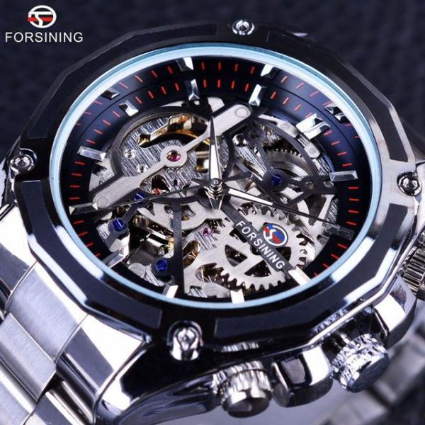 Đồng hồ cơ nam Forsining 1030 lộ máy dây kim loại (M Nhiều màu) bán chạy