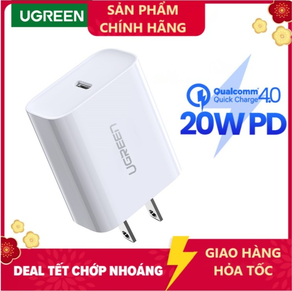 Cốc sạc Nhanh UGREEN 20W Power Delivery Fast Charger for iPhone 12 Pro max SAMSUNG Xiaomi Huawei VIVO OPPO