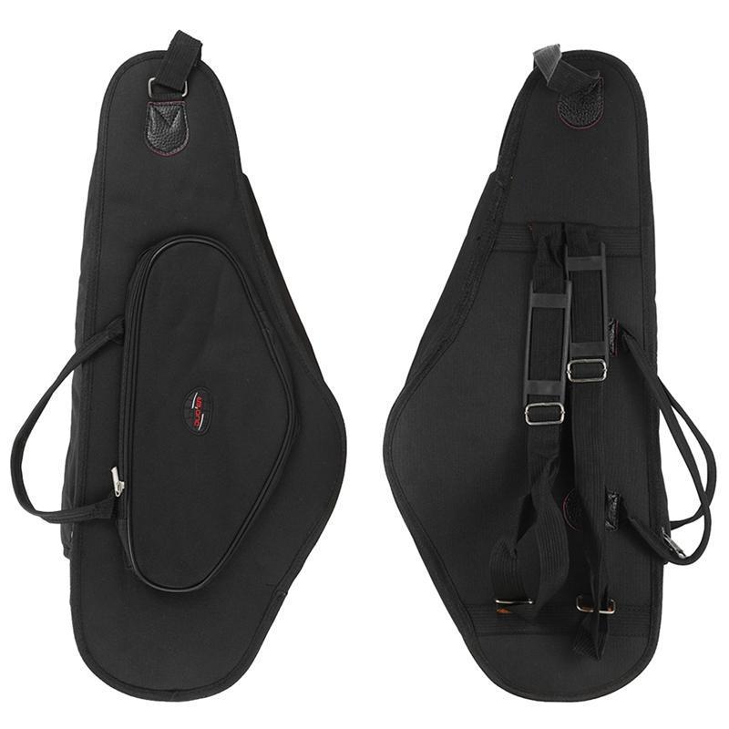 DUOER 600D Waterproof Saxophone Bag Case Quilted Double Zipper With Adjustable Shoulder Band Pocket