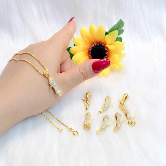 Dây chuyền vàng nữ dây xoắn mặt chiếc giày Gadoshop VD12041901 - đeo đi làm công sở cực sang chảnh và quý phái