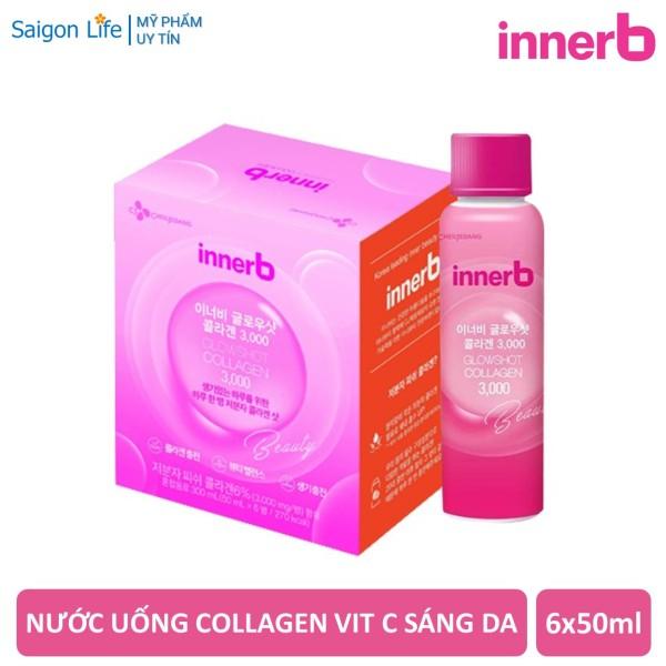 Hộp 6 Chai Nước uống Collagen Vitamin C Sáng Da InnerB Glowshot Collagen 3000 (50ml x 6)