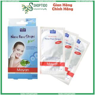 Hộp 4 miếng dán lột mụn cám, mụn đầu đen Mayan Nose Cleaning Strips NPP Shoptido thumbnail