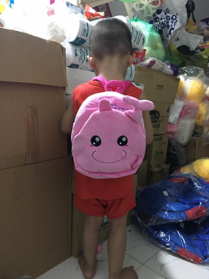 Balo gấu Similac màu hồng