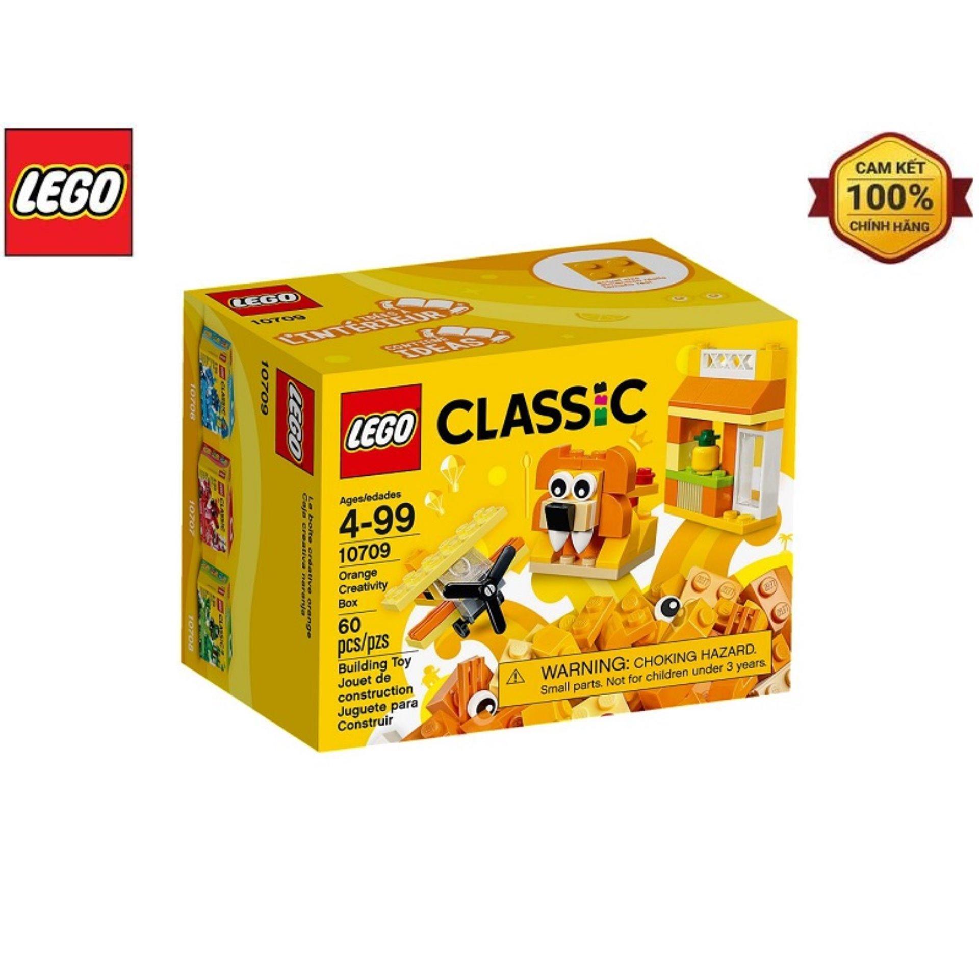 Coupon Ưu Đãi Mô Hình Lego Classic - Lắp Ráp Classic Màu Cam 10709 (60 Mảnh Ghép)