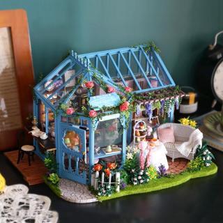 Nhà búp bê Ngôi nhà búp bê tự làm Nhà búp bê bằng gỗ A068 thumbnail