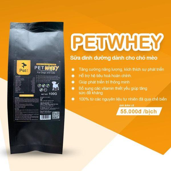 🐶 Sữa Whey cho Chó Mèo