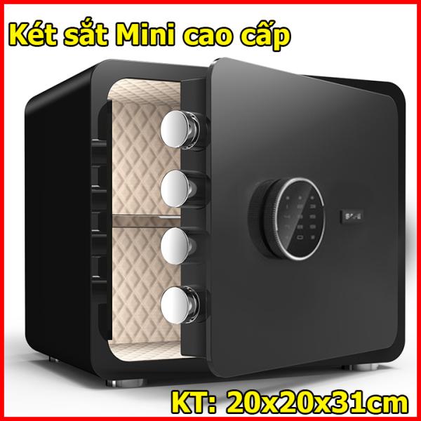 Két sắt Mini có mật khẩu 3 lớp chìa + khóa điện tử, Két sắt mini khách sạn cao cấp, Ket sat mini, két sắt mini giá rẻ, két sắt cá nhân