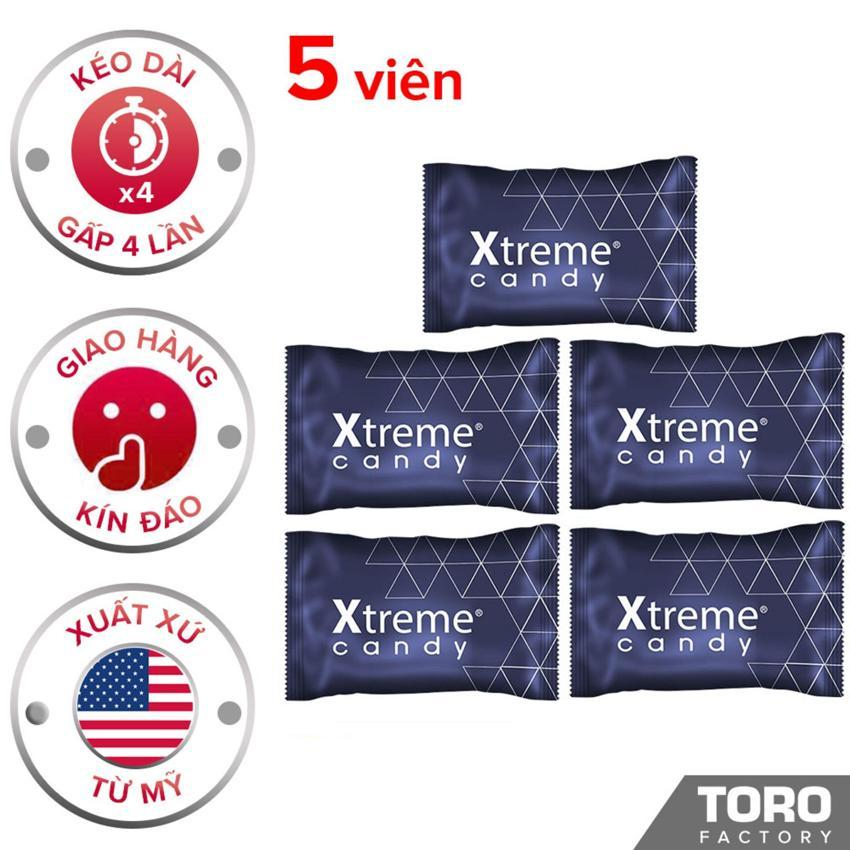 [Hiệu quả hơn 40% kẹo Hamer] Bộ 5 (5 viên) Kẹo Sâm Ultimate Xtreme Flavor (Mỹ) - Kéo dài thời gian quan hệ, trị xuất tinh sớm, tăng cường sức khỏe cho nam giới - 5 viên - [TORO FACTORY]