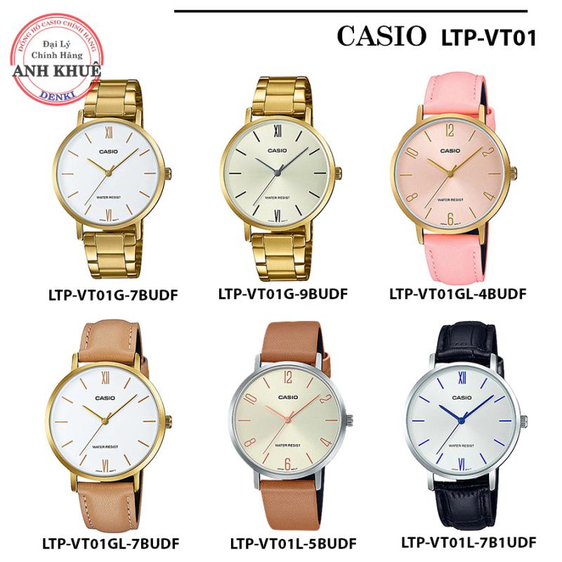 Đồng hồ nữ dây kim loại Casio Standard chính hãng Anh Khuê LTP-VT01 Series (34mm) VT01G, VT01GL, VT01L