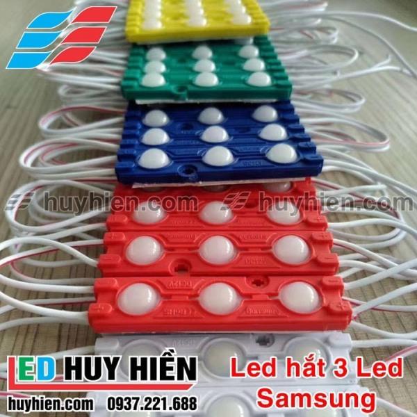 Led hắt 3 led 2835 kích thước 6011 các màu đơn sắc (Vỉ 20 thanh 3 Led)