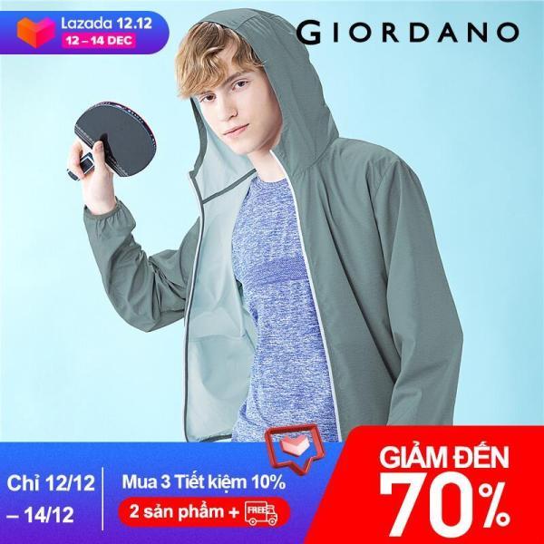 Áo khoác chống nắng tia cực tím dành cho nam chất liệu thoáng mát có túi tiện lợi Giordano 01070091