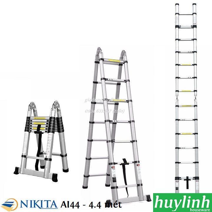 Thang nhôm rút đôi chữ A Nikita AI44 - 4.4 mét
