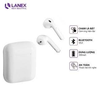 Tai nghe Bluetooth LANEX LEP-W06 airpods Chính hãng (Cảm ứng 2 bên, định vị, v5.0) thumbnail