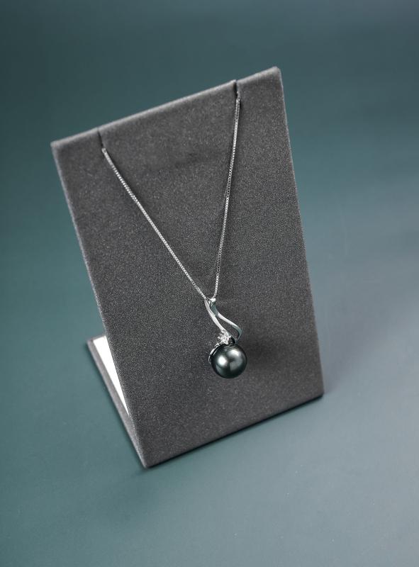 Dây Chuyền Nữ Bạc Đính Ngọc Trai Đen Quý Phái D0420008 - Trang sức Mon Lilas