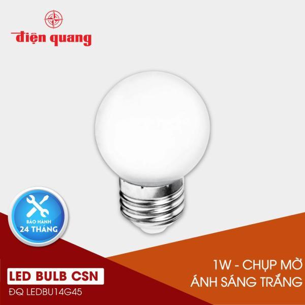 Đèn LED Bulb Điện Quang ĐQ LEDBU14G45 01765 (1W daylight, chụp mờ)