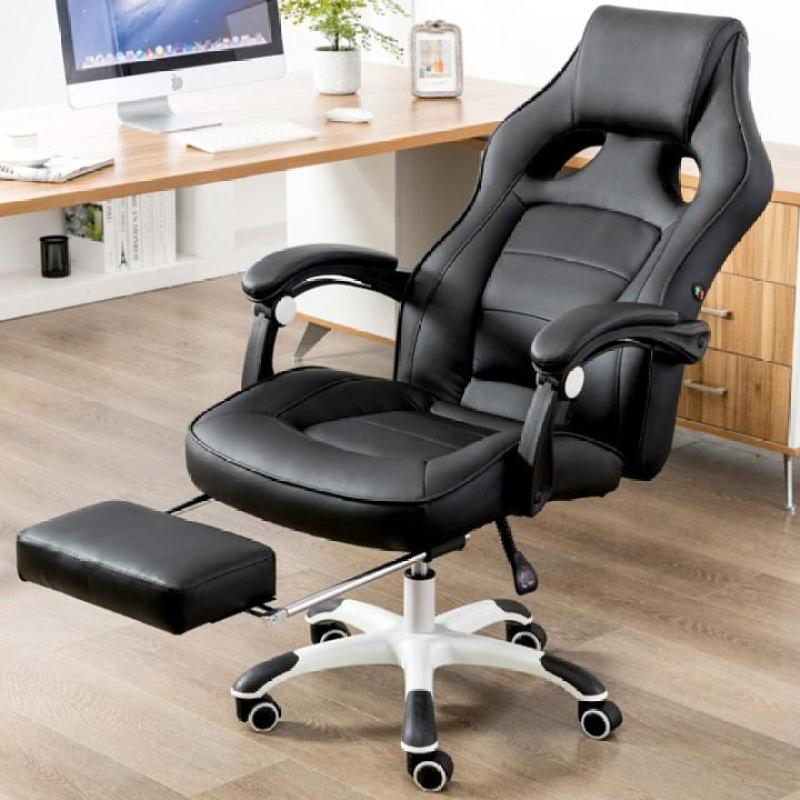 Ghế da có massage lưng kèm để chân thư giãn - Ghế matxa da THẬT thế hệ mới giá rẻ