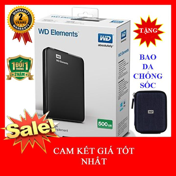Ổ Cứng Di động 500Gb WD Elements - Nhập Khẩu Giá Tiết Kiệm Nhất Thị Trường