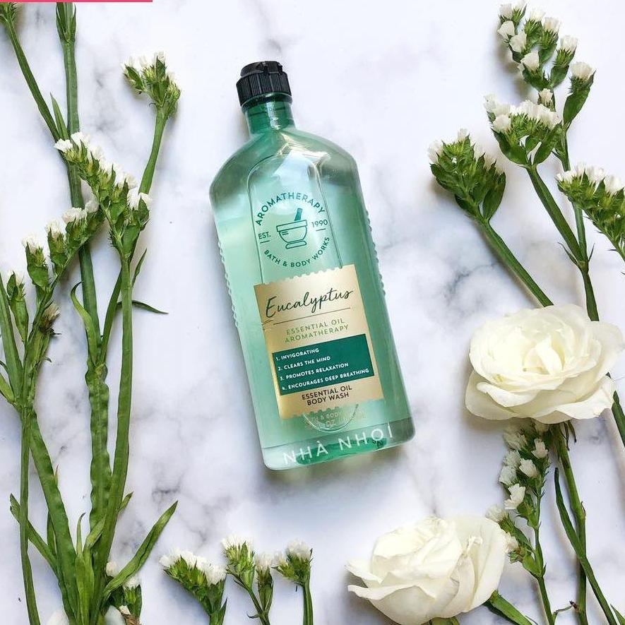 Sữa Tắm Bath & Body Works Essential Oil Aromatherapy – Eucalyptus (295ml) nhập khẩu