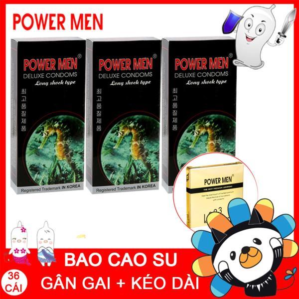 Bộ 36 Bao cao su Powermen Trị xuất tinh sớm Tăng khoái cảm cao cấp