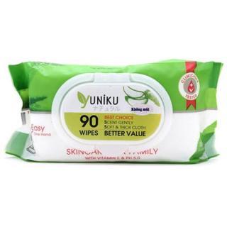 Khăn giấy ướt cao cấp yuniku 90 tờ giá rẻ ( xanh lá ) thumbnail