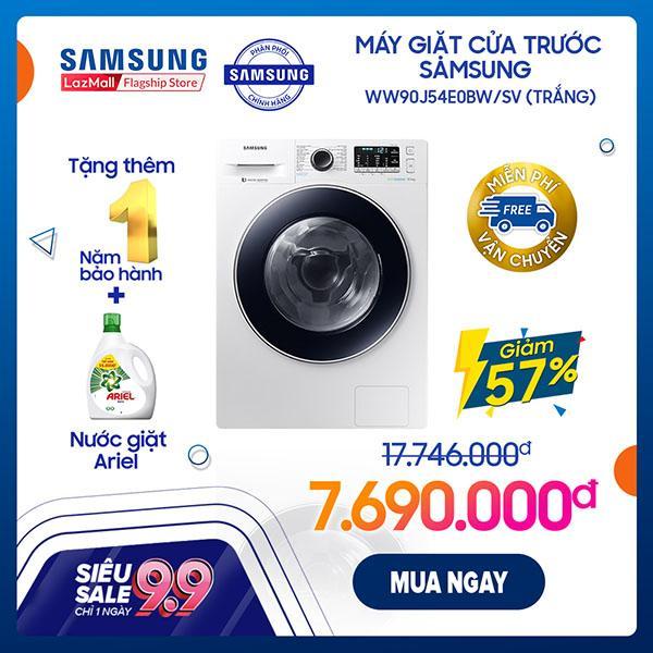 Máy giặt cửa trước Samsung WW90J54E0BW/SV (Trắng) - Hãng phân phối chính thức