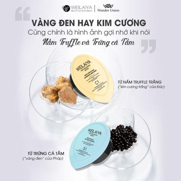 Mini size set dầu gội xả phục hồi nấm Truffle Weilaiya, phục hồi tóc khô xơ, sạch gàu, bóng mượt, lưu hương nước hoa giá rẻ