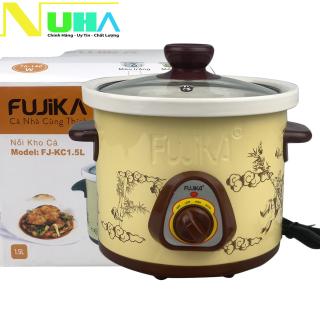 Nồi nấu chậm Fujika FJ-KC15 dùng để hầm cháo em bé, chưng yến, kho cá giữ được hương vị của thức ăn, bảo hành 12T, màu ngẫu nhiên thumbnail