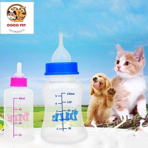 Bình Ti Sữa/Bình Sữa Dành Cho Chó Mèo Sơ Sinh 60ML