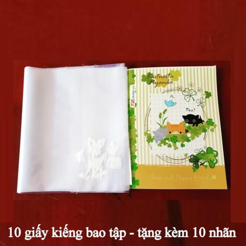 Mua 10 tờ kiếng bao tập loại dày - tặng kèm 10 nhãn nhỏ