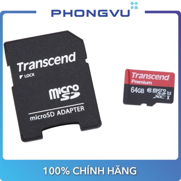 Thẻ nhớ Micro SD Transcend 64GB (Class 10) - Bảo hành 12 tháng