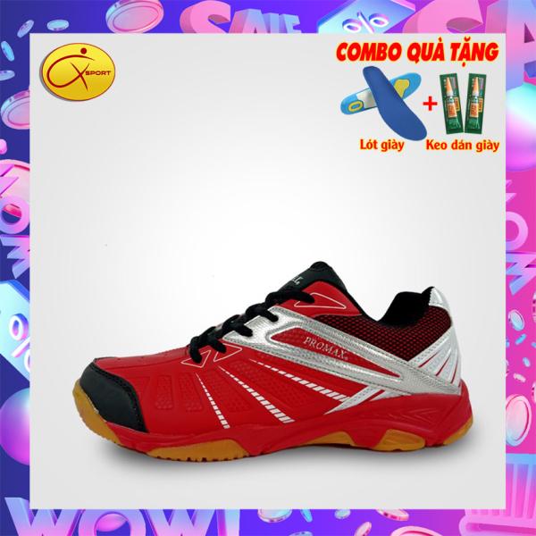Giày cầu lông nam Promax 19001 màu Đỏ Xpd, động lực, đế kếp, chống trơn, chống trượt, ôm chân, bền bỉ Q sport , Q-sport, Qsport, Q- Sport, Q - Sport - Giày cầu lông nam nữ- Giày bóng chuyền nam nữ- giày thể thao nam nữ