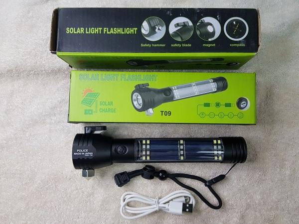 Đèn pin sạc đa năng T09 xịn - kiêm sạc dự phòng - đèn pin cứu hộ thoát hiểm trên xe hơi ô tô