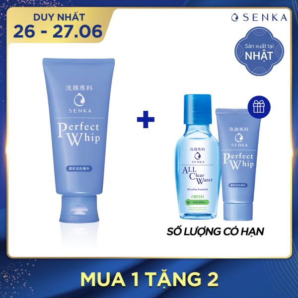 [QUÀ TẶNG 0đ] Sữa rửa mặt tơ tằm trắng Senka Perfect Whip 120g cao cấp