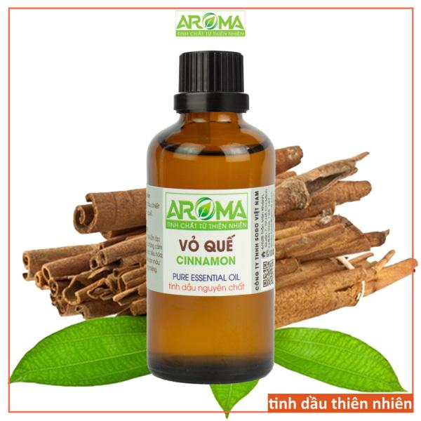 Tinh dầu Vỏ Quế AROMA 100% nguyên chất từ thiên nhiên làm không gian ấp áp, thư giãn; chăm sóc sức khỏe, sắc đẹp | Cinnamon