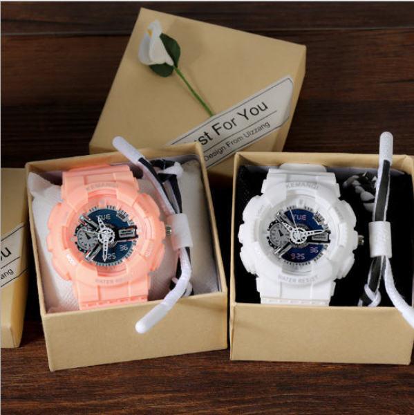 Đồng hồ nữ xanh matcha Candycat mẫu chạy kim màn hình giả điện tử S98