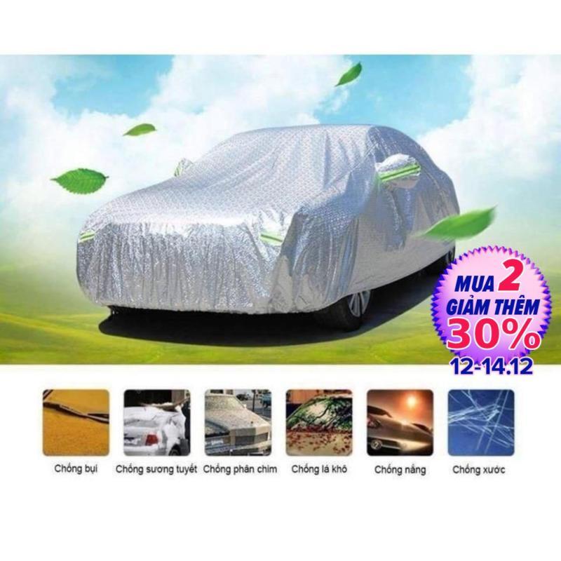Bạt phủ xe ô tô Bạt trùm xe tráng nhôm cách nhiệt xe từ 4 đến 7 chỗ chống nước Phản quang cách nhiệt Thiết kế tiện dụng