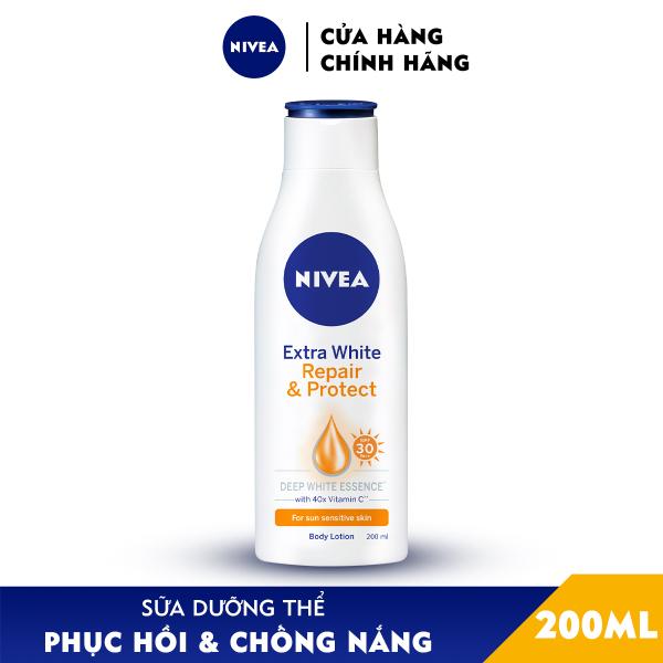 Sữa Dưỡng Thể Dưỡng Trắng Nivea Giúp Phục Hồi & Chống Nắng SPF 30 (200ml) - 88310 nhập khẩu
