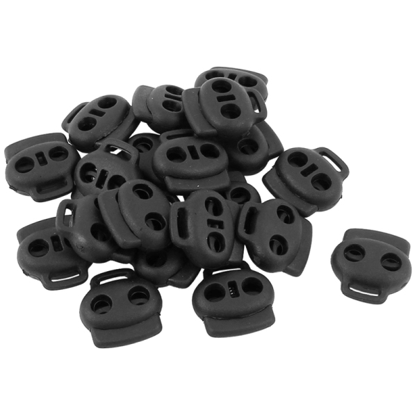 Mua 20pcs Dual Holes Spring Loaded Cord Lock Stopper Toggle Fastener Black