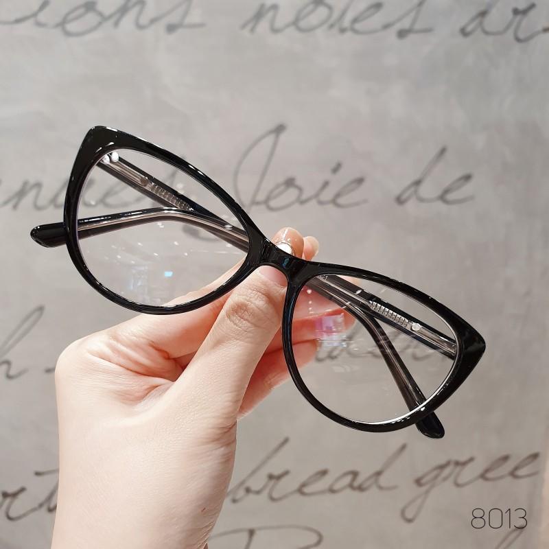 Giá bán Gọng kính cận nữ FARELLO nhựa bọc kim loại mắt mèo  nhiều màu - CATEY Y8013