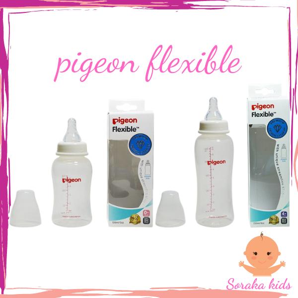 Bình sữa Pigeon Flexible 150ml/250ml chất liệu PP cao cấp cho bé từ sơ sinh SORAKA KIDS