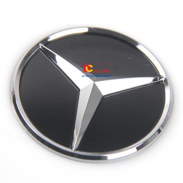 Logo biểu tượng vô lăng xe ô tô Mer.cedes, đường kính 57mm, LGVL-ME57D