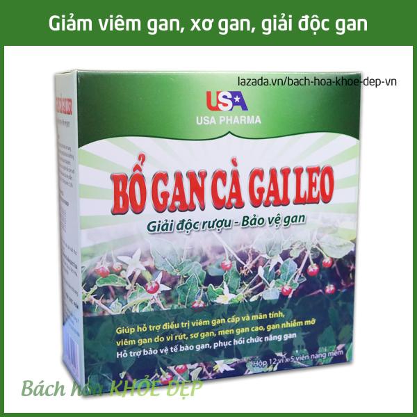 Viên uống Bổ Gan Cà Gai Leo mát gan, giải độc gan, hạ men gan - Hộp 60 viên dùng cho người từ 6 tuổi giá rẻ