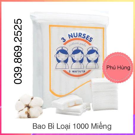 Bông Tẩy Trang 100% cotton - Bông Tẩy Trang Cao Cấp 2 Lớp - 150 Miếng