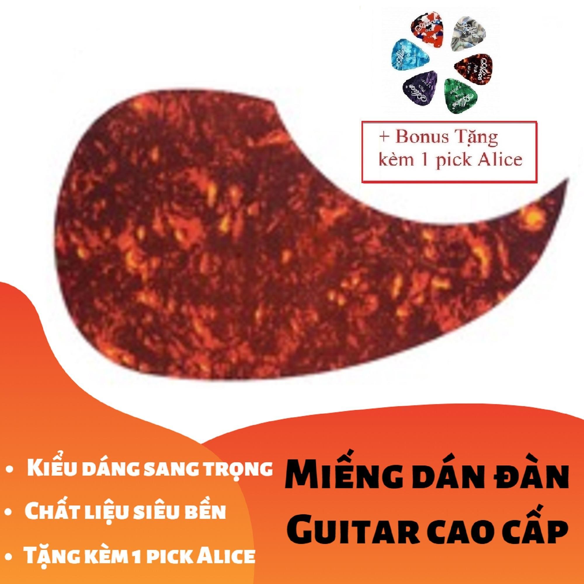 [RẺ GIẬT MÌNH] Miếng Dán Cao Cấp Trang Trí, Bảo Vệ đàn Ghi-ta Hình Giọt Nước Trong Suốt, đỏ, đen (Guitar PickGuard) - Tặng Kèm 1 Pick Alice Giá Ưu Đãi Nhất