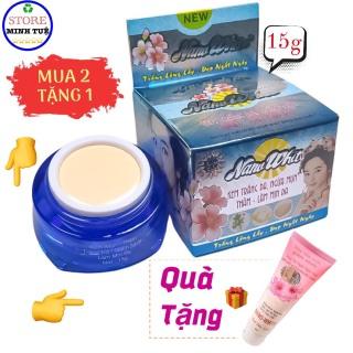 [HCM](MUA 2 TẶNG 1)-Kem mụn, giảm thâm, trắng da, giảm nhờn, làm mịn da, giúp da trắng hồng như ý được chiết xuất từ ngọc trai và sâm trắng Nano White ( 15g ) thumbnail
