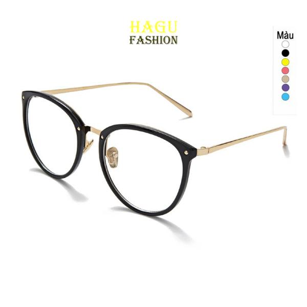 Giá bán Kính Gọng Cận 💗 Mắt kính form tròn Gọng kim loại phong cách Hàn Quốc 509 chống tia UV kiểu dáng thời trang